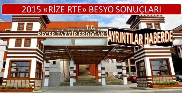 Rize Recep Tayyip Erdoğan Üniversitesi Besyo Sonuçları 2015