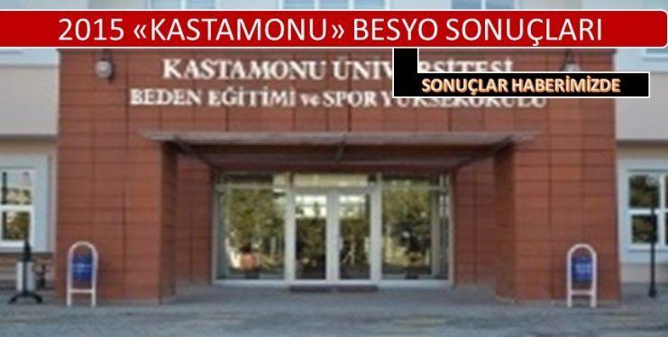 Kastamonu Üniversitesi Besyo Sonuçlar 2015