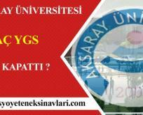 Aksaray Üniversitesi Besyo Kaç YGS İle Kapattı 2017