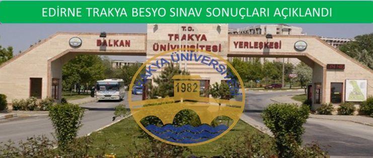 Edirne Trakya Üniversitesi Kırkpınar Besyo Sonuçları 2015