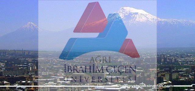 Ağrı İbrahim Çeçen Üniversitesi Besyo Yetenek Sınavı 2017