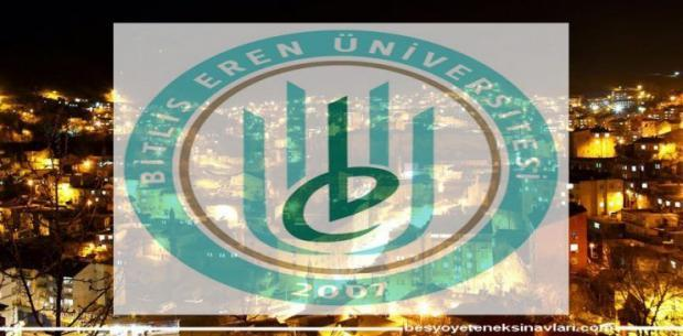Bitlis Eren Üniversitesi 2018 Besyo Kılavuzunu Açıkladı