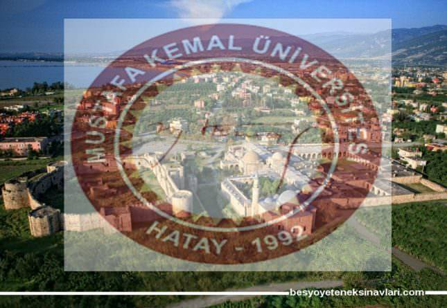Hatay Mustafa Kemal Üniversitesi 2018 Besyo Kılavuzunu Açıkladı