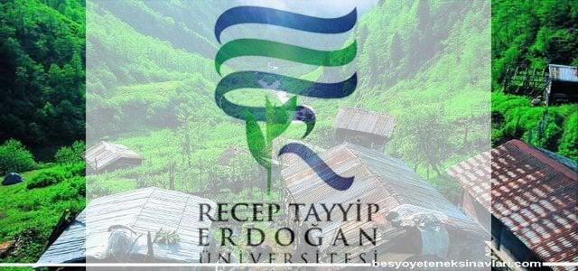 Rize Recep Tayyip Erdoğan Üniversitesi Özel Yetenek Sınav Klavuzunu Açıkladı 2018